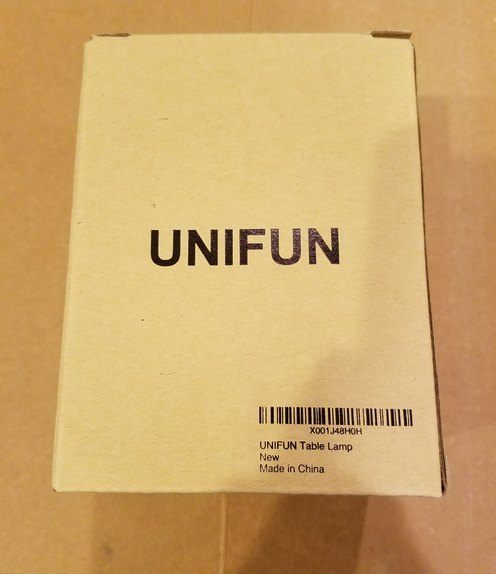 Unifun Touch Lamp packaging
