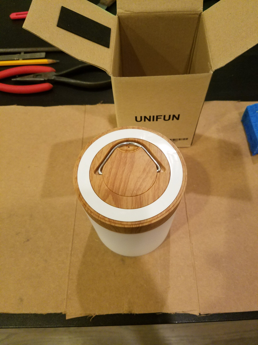 Foam base ring on Unifun Touch Lamp